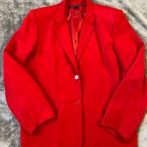 Red ladies suit jacket Sz. 14